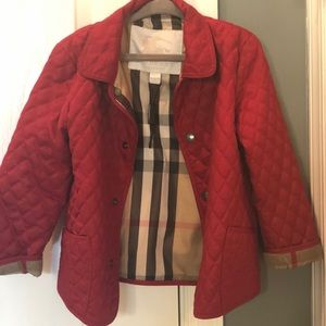 Burberry Quilted Toddler Jacket